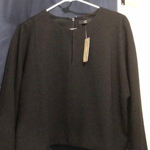 Long sleeve crop black blouse